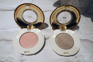 H&M High Impact Eye Colour in Pop the Question (left) and Gala Gown (right)