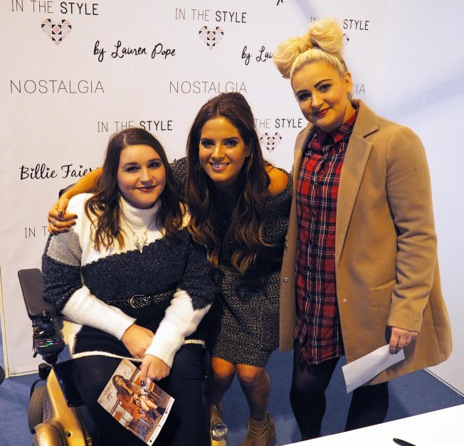 We also got to meet this beautiful lady! Binky from Made in Chelsea! And this is my sister!